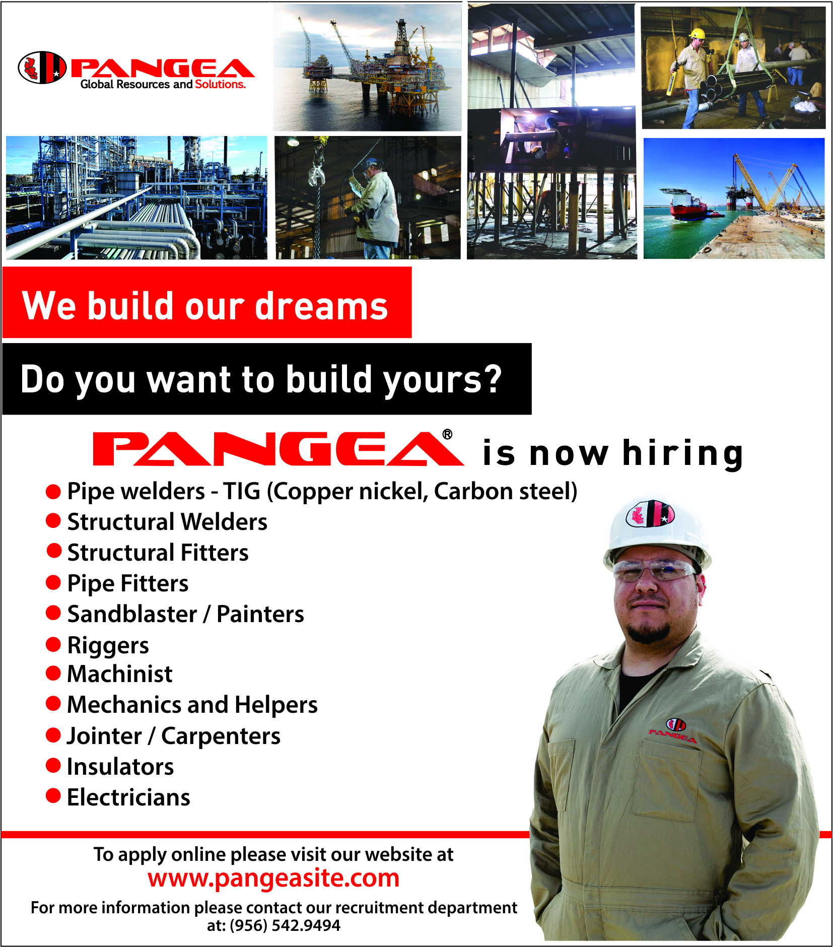 Pangea now Hiring Multiple Jobs