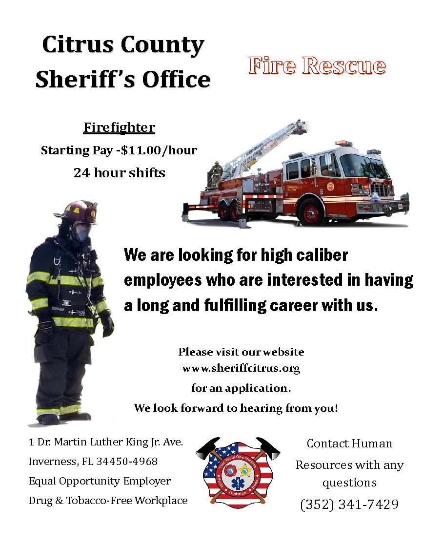 Citrus County Fire Rescue Hiring FF - Lake Tech's Career Center
