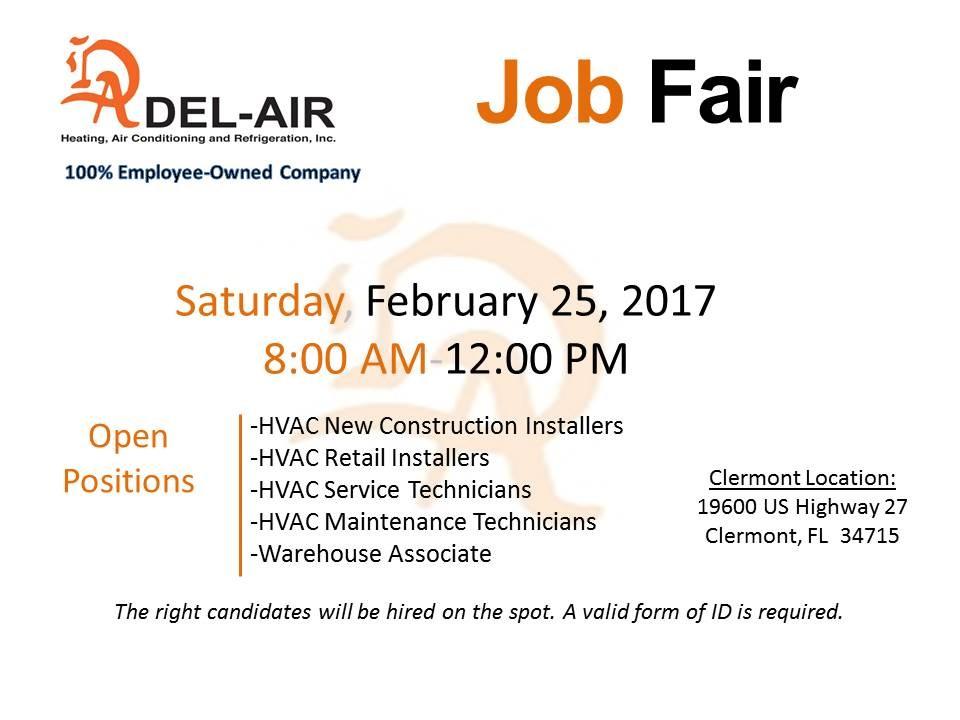 DEL-AIR Job Fair in Clermont