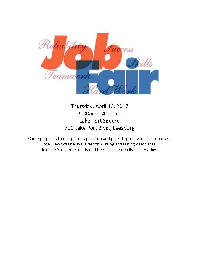 Lake Port Square Job Fair