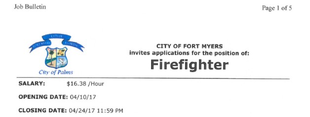 City of Ft. Myers Hiring FF