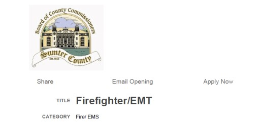 Sumter County Hiring FF/EMT