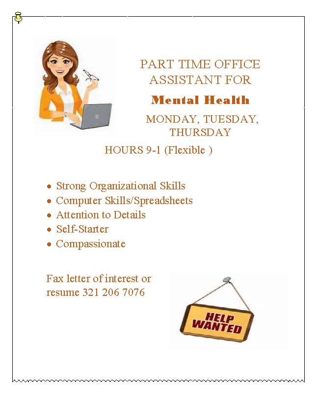 PT Office Assistant Wanted
