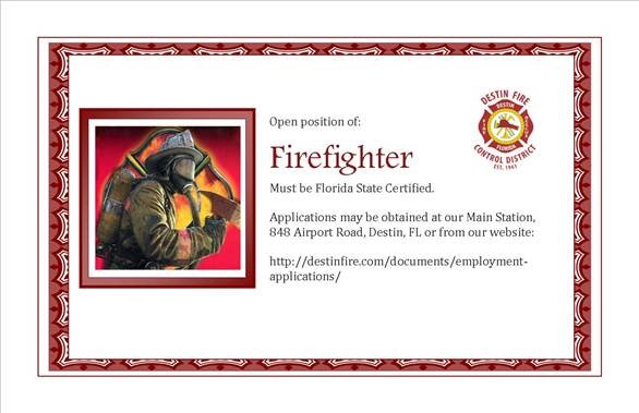 Destin Fire Control District Hiring FF/EMT