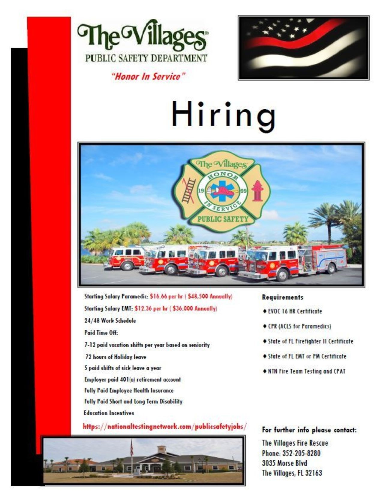 The Villages Hiring