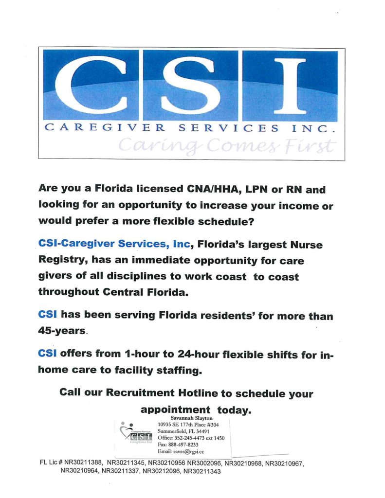 csi-caregiver services  inc  hiring for cna  hha  lpn  ra