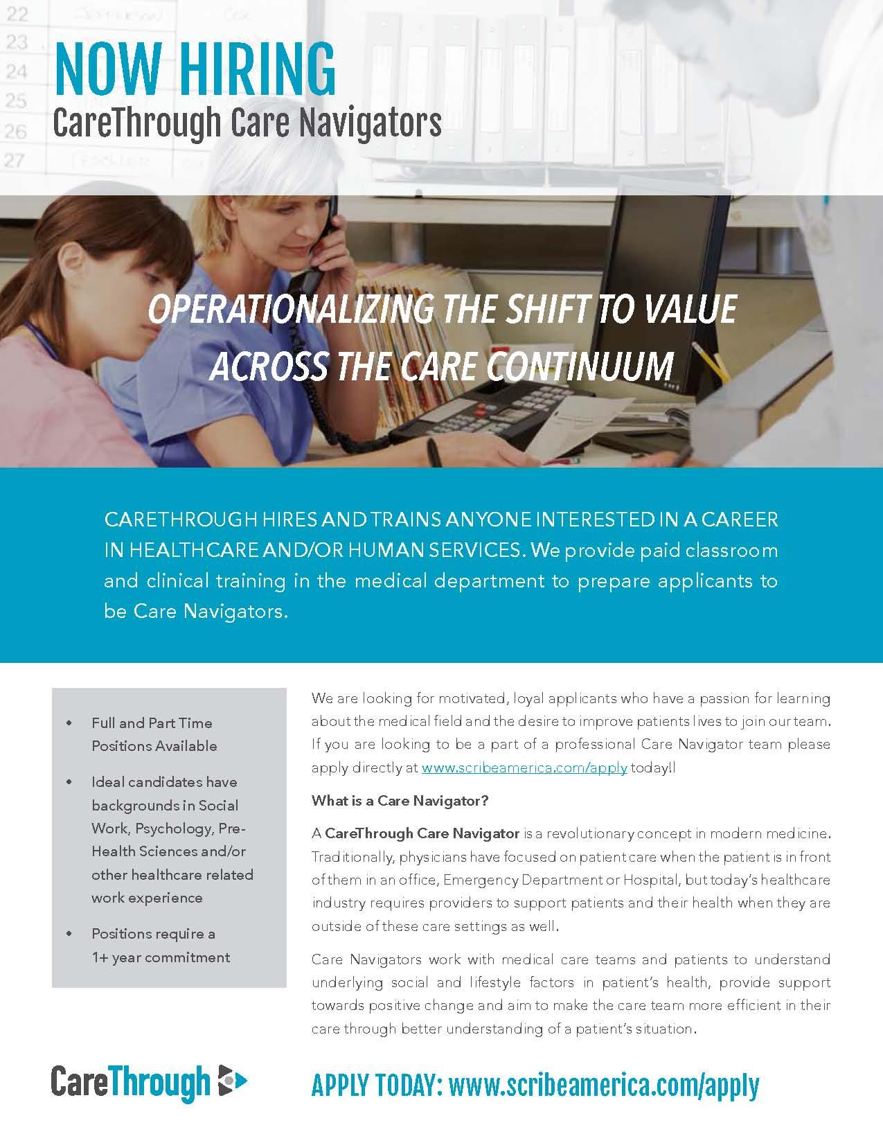 Care Through Hiring Care Navigators