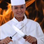 chef with fire