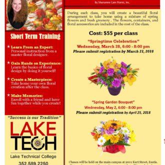 Short Term Training Floral Design Spring 2018 330x330 Short Term Classes