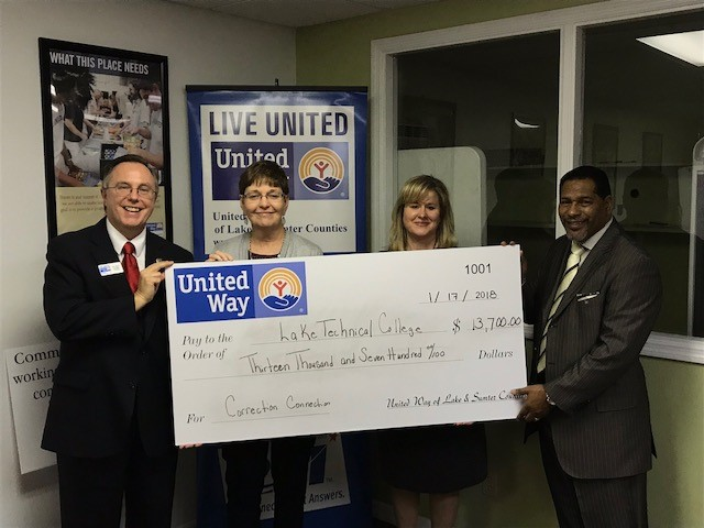 Press Release – Lake Tech awarded United Way Grant