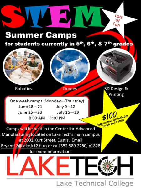 flyer 450x600 LAKE TECH IS STEM ULATing YOUNG MINDs THIS SUMMER