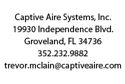captive aire systems Proud Partners