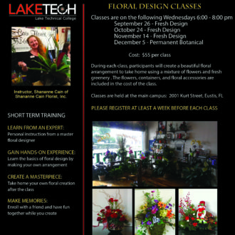 Floral Design 330x330 Short Term Classes