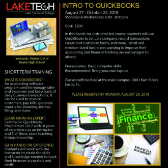Intro to QuickBooks 330x330 Short Term Classes