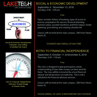 Social and Economic and Financial Independence 330x330 Short Term Classes