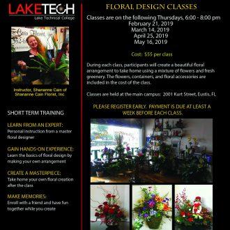 Floral Design Flyer Spring 2019 330x330 Short Term Classes