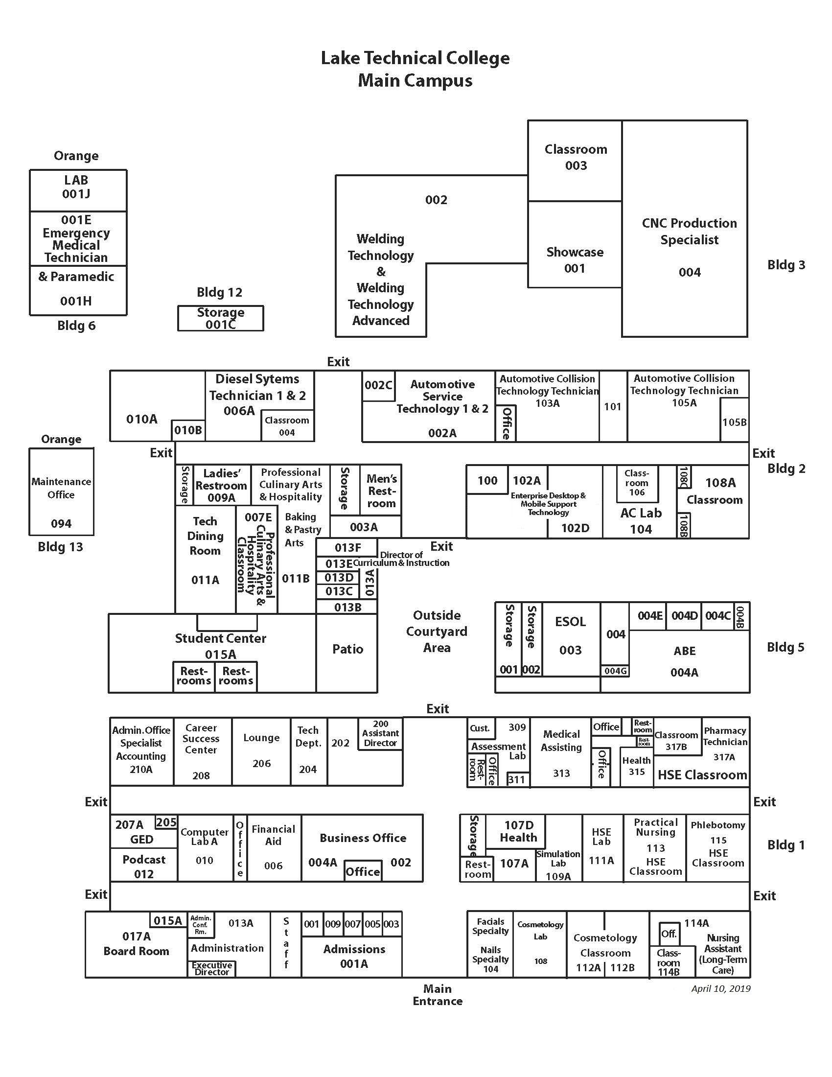 campus map 041019 Campus Maps