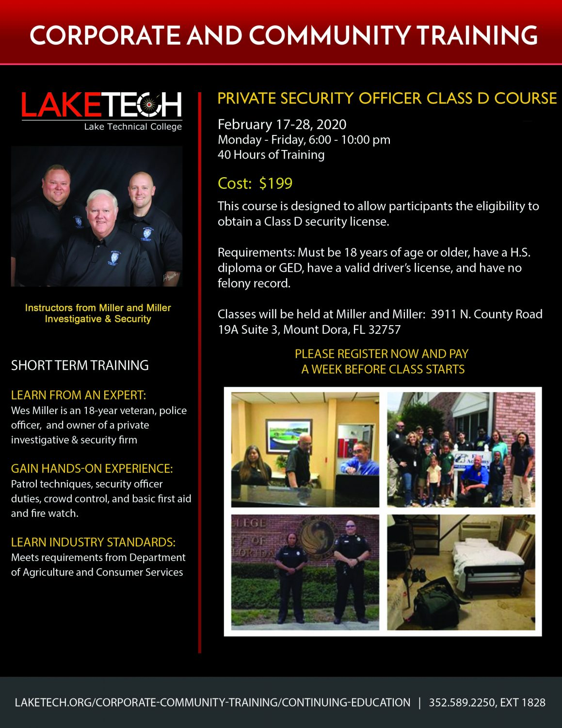 Security Guard Course Flyer February 2020 scaled Private Security Officer Class D Course