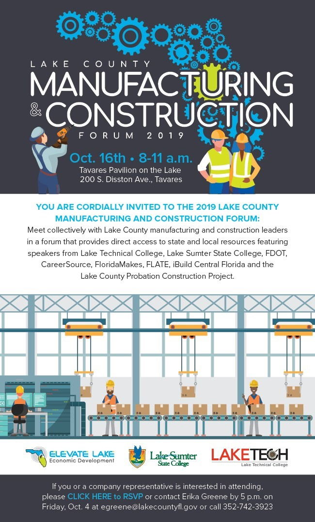 Manufacturing and Construction Forum 101619 Academic Affairs 09/20/19