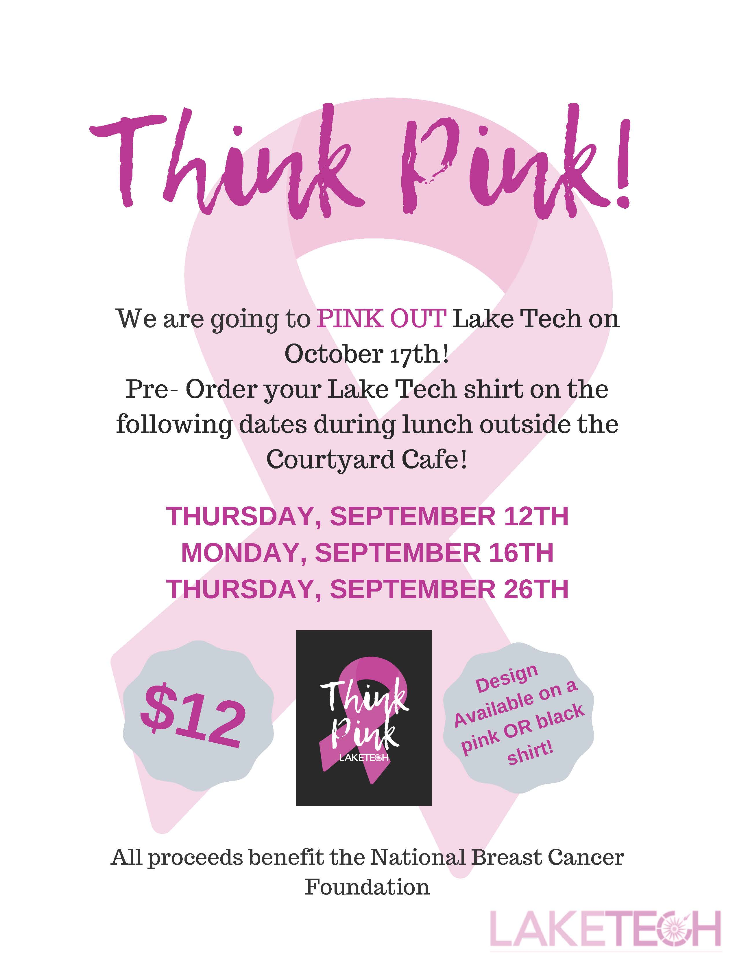 Think Pink 3 Student Affairs 09/13/19