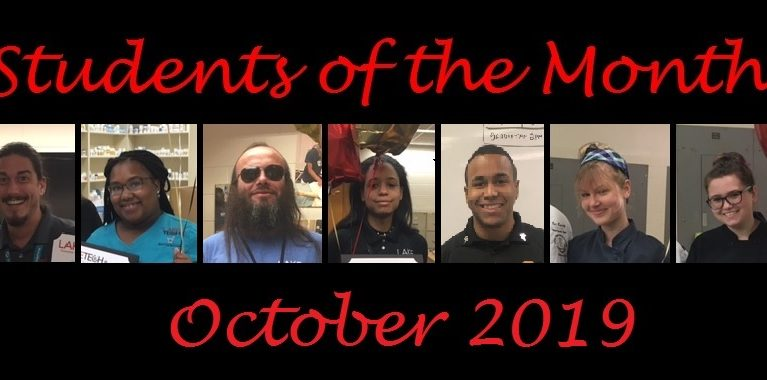 Student of the Month October 2019