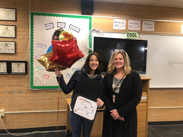 P. De Azevedo January 2020   Students of the Month
