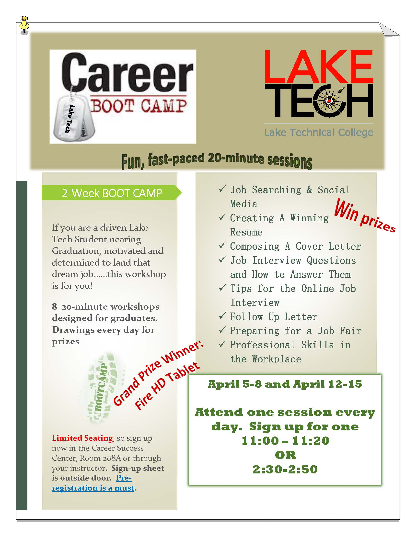 Career Boot Camp 032621 On Campus and in the Community ~ 03/26/21