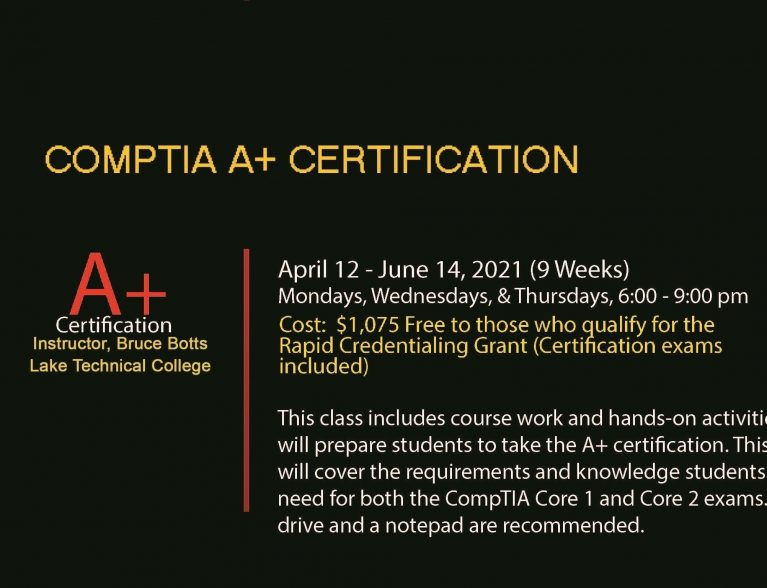 CompTIA A+ Flyer Spring 2021 featured image 2